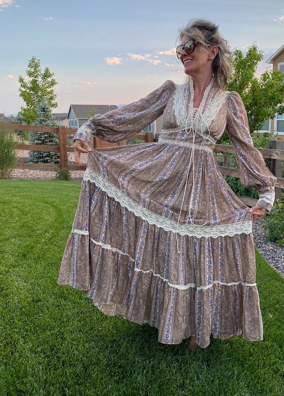 Vintage Gunne Sax Paisley Cottagecore dress - image 1