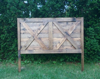 Rustic Farmhouse Headboard, King, Queen, Full/Double, Twin, Custom Headboard, Farmhouse Headboard, Rustic Headboard, Wooden Headboard