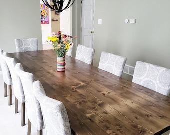 Farmhouse Table, Farm Table, Wooden Dining Room Table, Rustic Kitchen Table,  Large Farmhouse Table, Long Farm Table, Custom Table