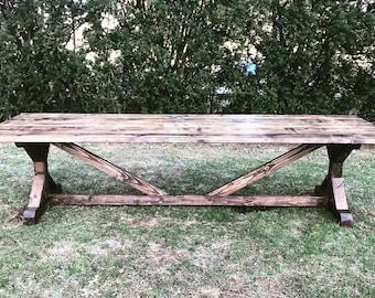 10 Foot Farm Table Etsy