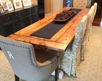 Dining Room Table, Rustic Kitchen Table, Large Farmhouse Table, Long Farm  Table, Custom Wood Table   All Sizes And Stains