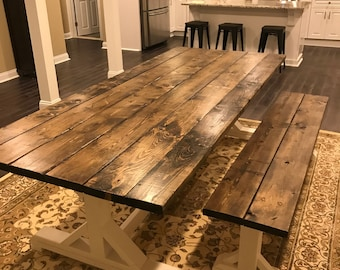 Farmhouse Table, Farm Table, Long Farmhouse Table, Rustic Table, Rustic  Wedding, Wooden Table, Barn Table, Long Farmhouse Table
