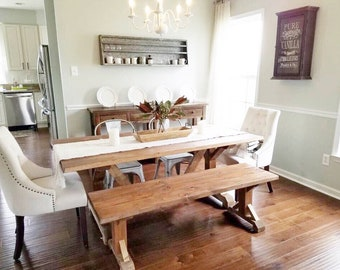 Farmhouse Table Farm Table Wooden Dining Room Table Rustic Etsy