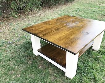 Rustic Coffee Table, Farmhouse Coffee Table, Farm Coffee Table, Square Coffee Table, Distressed Coffee Table, Rustic Wood Coffee Table