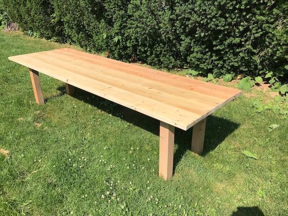 Rustic Farm Table Natural Wood Farm Table Natural Farm Etsy - Natural wood farm table