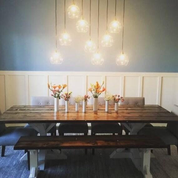 Rustic Farm Table White Trestle Table Trestle Farmhouse Etsy - Farmers table nh