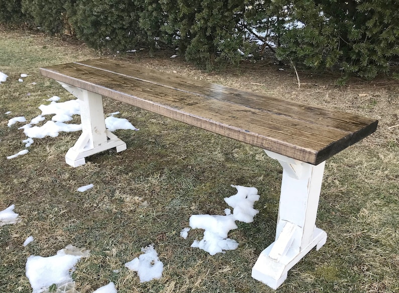 Wondrous Farmhouse Bench Farm Bench Rustic Bench Antique Bench Entryway Bench Kitchen Table Bench Custom Bench Wooden Bench Caraccident5 Cool Chair Designs And Ideas Caraccident5Info