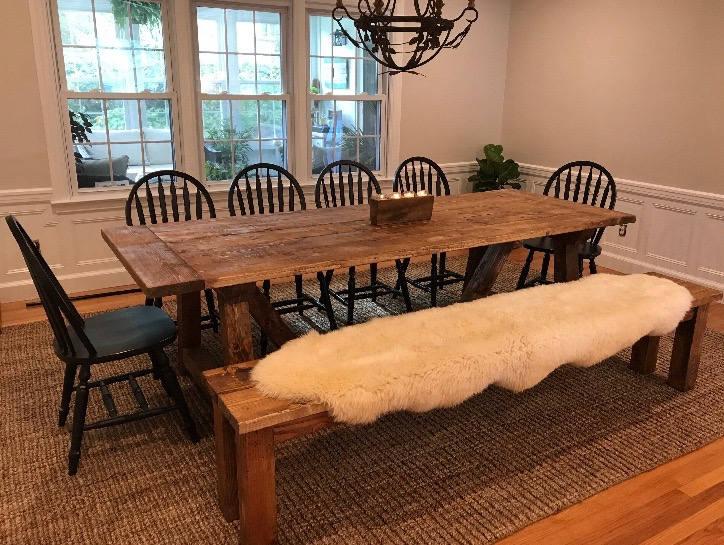 Rustic Farmhouse Table Large Farm Table Farmhouse Table | Etsy