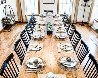 Large Farmhouse Table, Long Farmhouse Table, Kitchen Table, Rustic Dining Table, 12-Foot, 13-Foot, 14-Foot Table- All Sizes & Stains