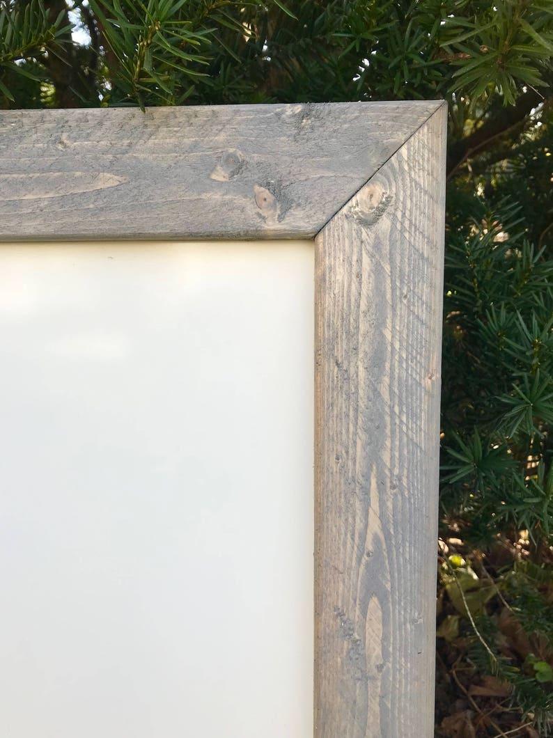Wooden Whiteboard Rustic Whiteboard Custom Whiteboard Large Dry Erase Board Whiteboard Sign Office Whiteboard Framed Whiteboard Sign