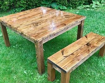 Farm Table, Farm House Table, Rustic Table, Square Table, Square Farm Table, Farmhouse Table, Long Farm Table, Distressed Table, Farm Decor