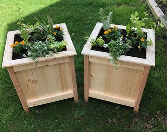 Outdoor Planter Stand Wood planter etsy rustic box planters wood planter wood box planter outdoor planter flower box workwithnaturefo