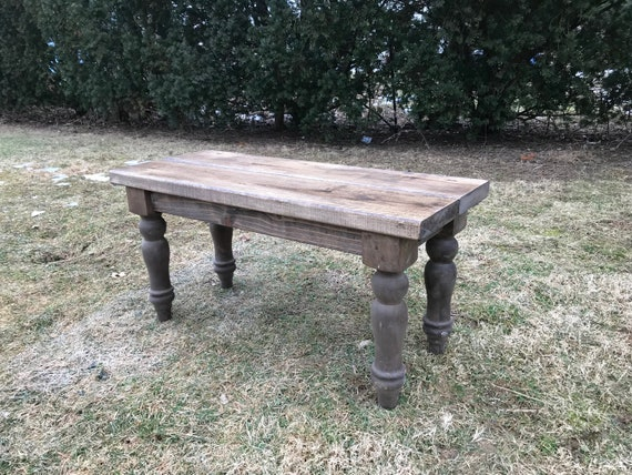 Awe Inspiring Custom Farmhouse Bench Rustic Bench Farm Table Bench Turned Legged Bench Wooden Bench Entryway Bench Kitchen Bench Caraccident5 Cool Chair Designs And Ideas Caraccident5Info