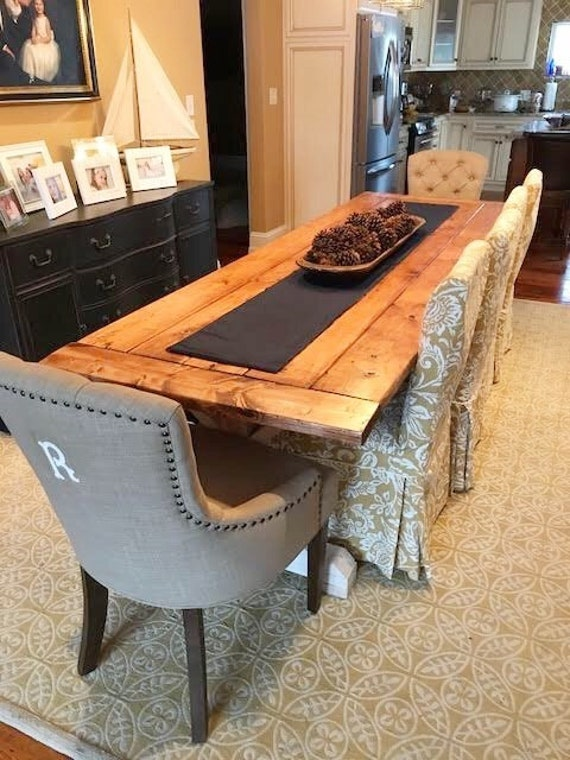 Dining Room Table, Rustic Kitchen Table, Large Farmhouse Table, Long Farm  Table, Custom Wood Table - All Sizes and Stains