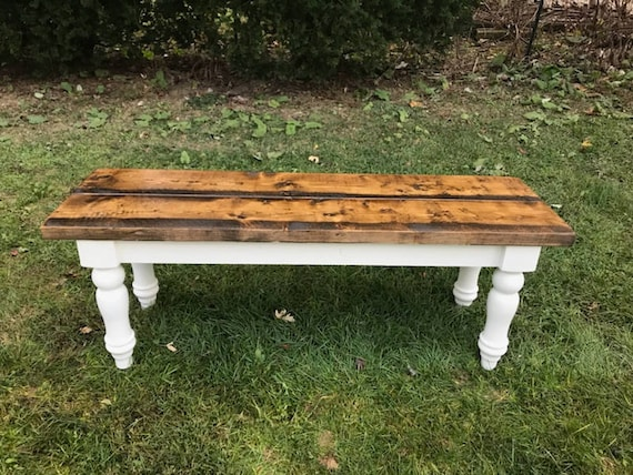 Rustic Farm Farmhouse Bench Table Dining Room