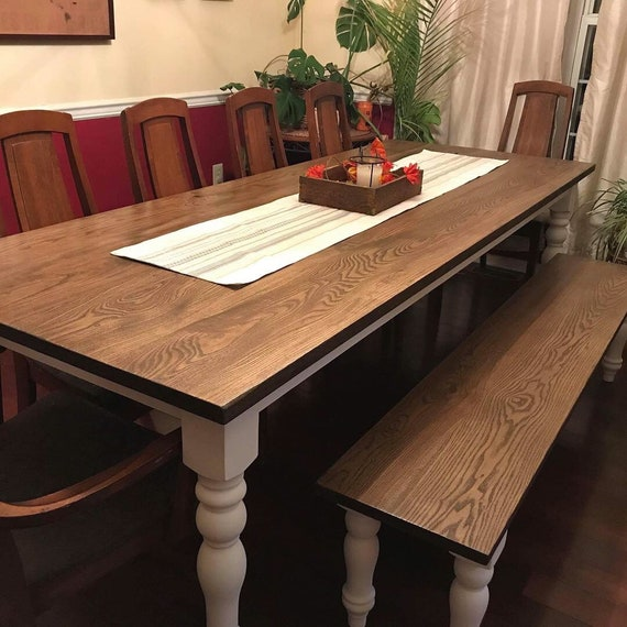 Farmhouse Table, Rustic Farm Table, Hardwood Table, Ash Farm Table, Custom  Farmhouse Table, Kitchen Table, Dining Table - All Sizes + Stains