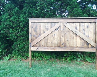 Rustic Barn Headboard, King, Queen, Full/Double, Twin, Custom Headboard, Farmhouse Headboard, Rustic Headboard, Wooden Headboard