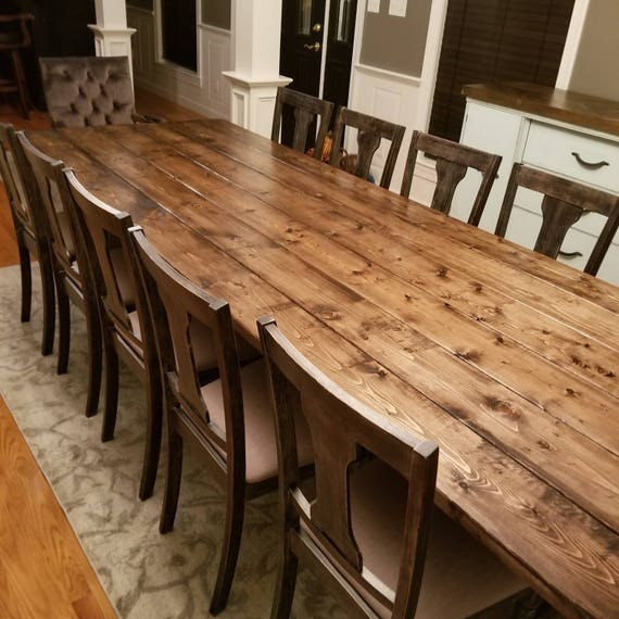 Barnwood Dining Room Tables: Long Farmhouse Table Large Farm Table Rustic Table Custom