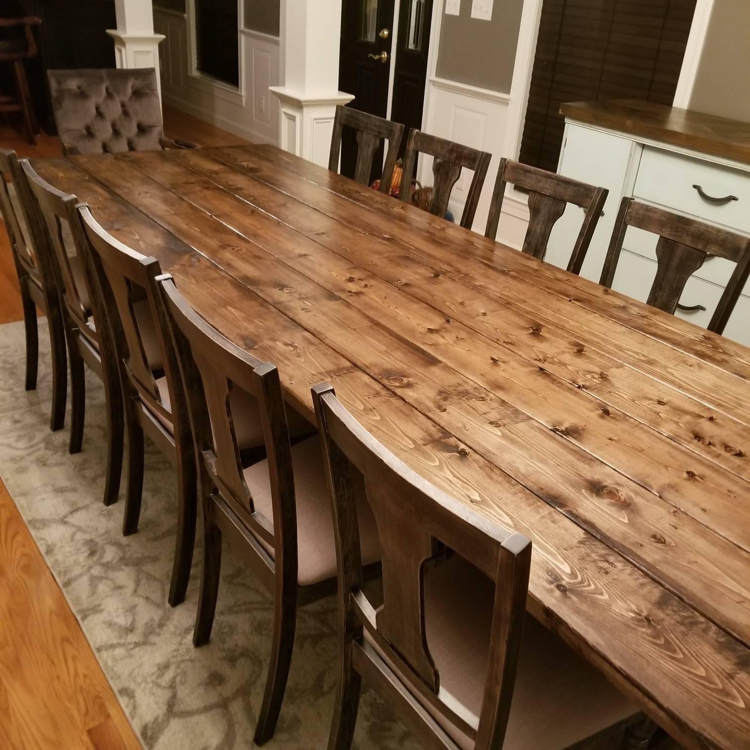 12 Rustic Dining Room Ideas: Long Farmhouse Table Large Farm Table Rustic Table Custom