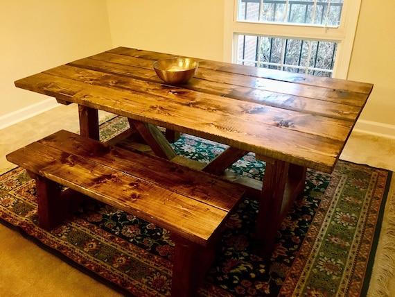 Farmhouse Table Farm Table Custom Farmhouse Table Rustic | Etsy