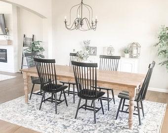 Custom Farmhouse Table, Long Farm Table, Custom Wood Table, Large Rustic Farmhouse Table, Kitchen Table, Barn Table, Modern Farmhouse Table