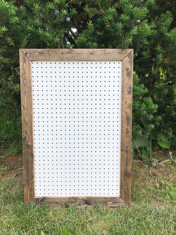 Rustic Pegboard Pegboard Display Large Pegboard Framed Etsy