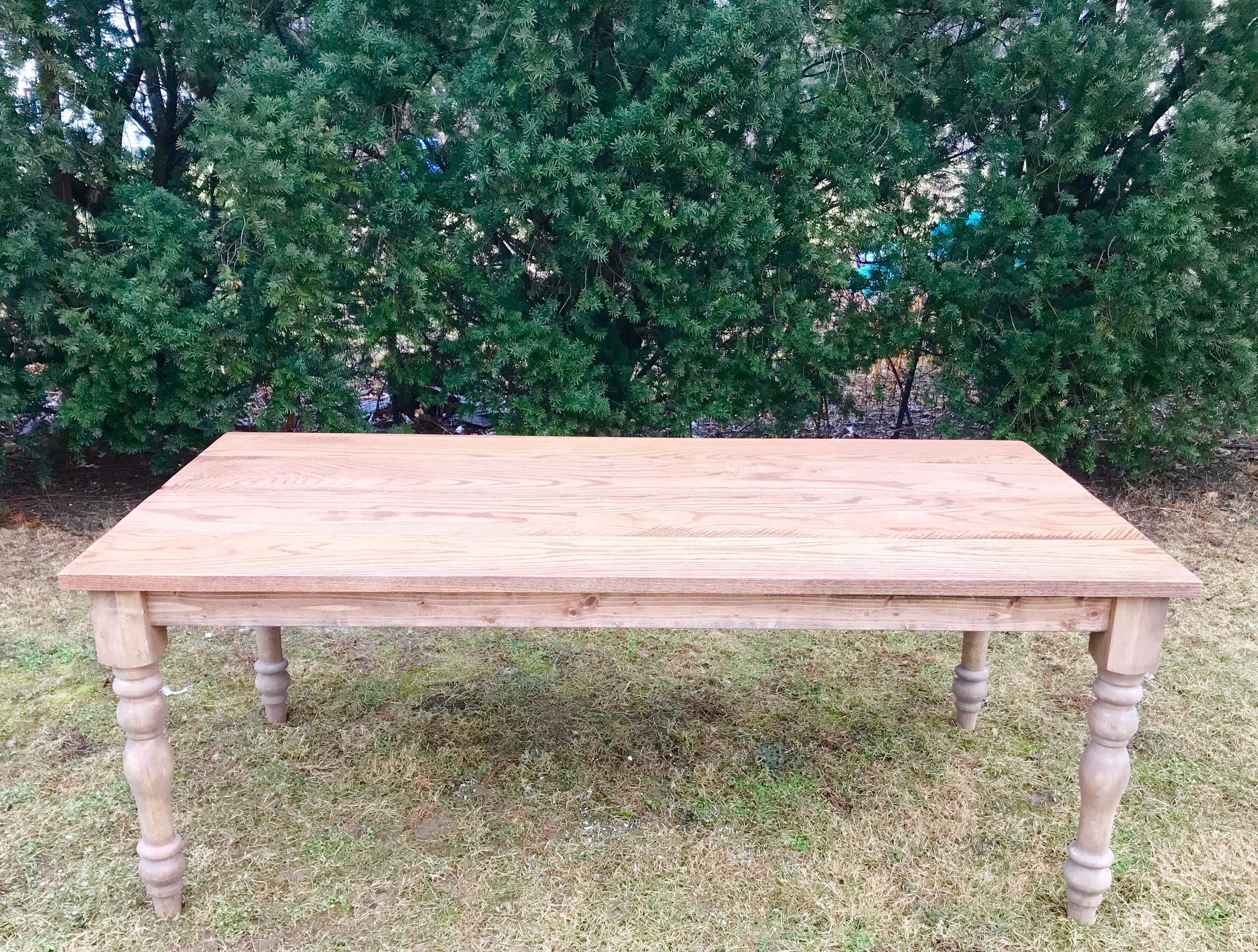 Oak Farm Table, Hardwood Farmhouse Table, Reclaimed Wood Table, Farm Table,  Rustic Farm Table, Custom Farmhouse Table