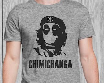 Deadpool Che Chimichanga T-Shirt Men Grey