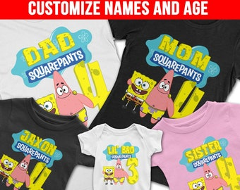 More Colours Spongebob Birthday Shirt