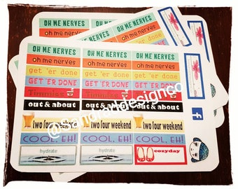 Canadian slang etsy planner stickers canadian slang oh me nerves two four weekend out about eh m4hsunfo