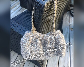 Beige Rope-Handled Purse