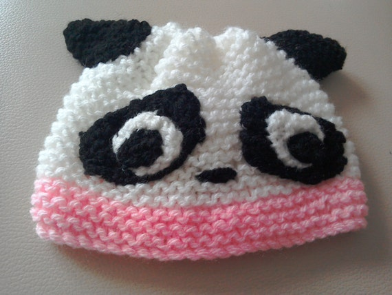 1e7731f0ef2 Panda Bear Hat Animal Ear Baby Hats Knit Baby Hats Bear