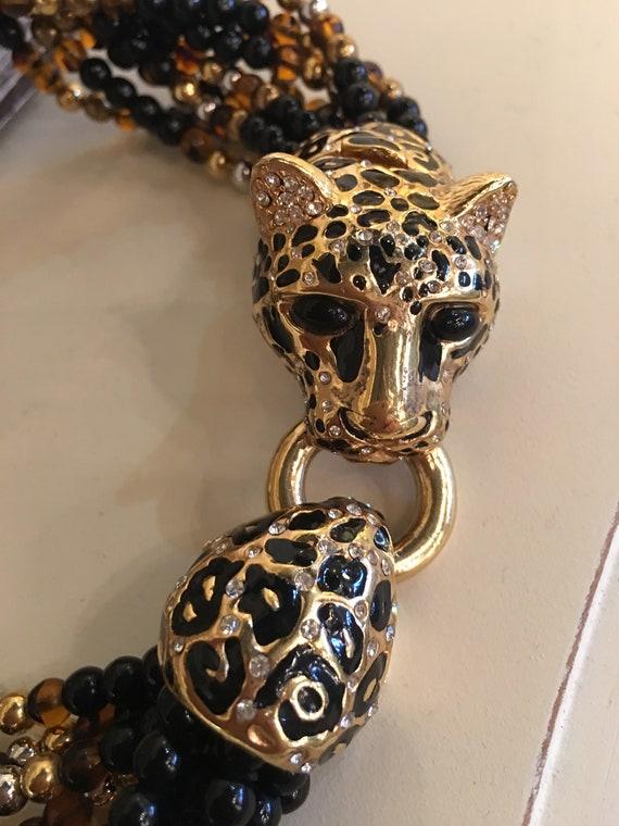 vintage 90's GENUINE CINER LEOPARD necklace