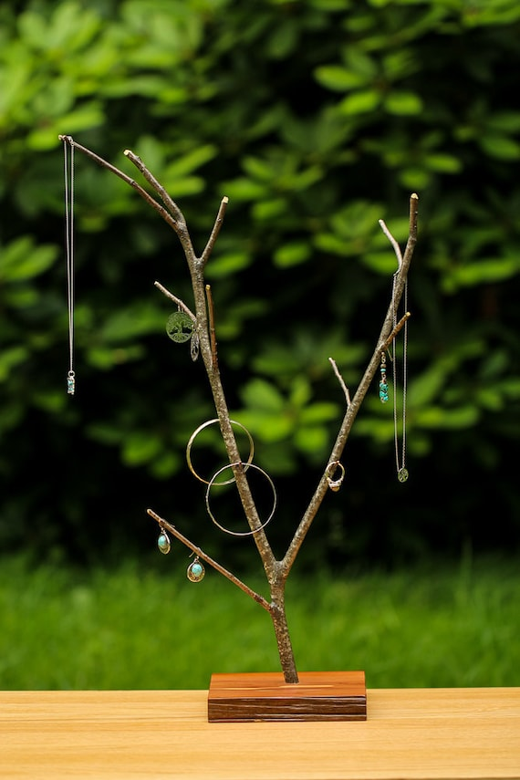 Jewelry Tree Tree Branch Jewelry Stand Rustic Wooden Etsy