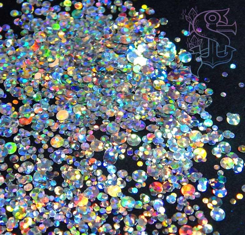 Rainbow Dot Glitter Mix Pop The Bubbles Holo