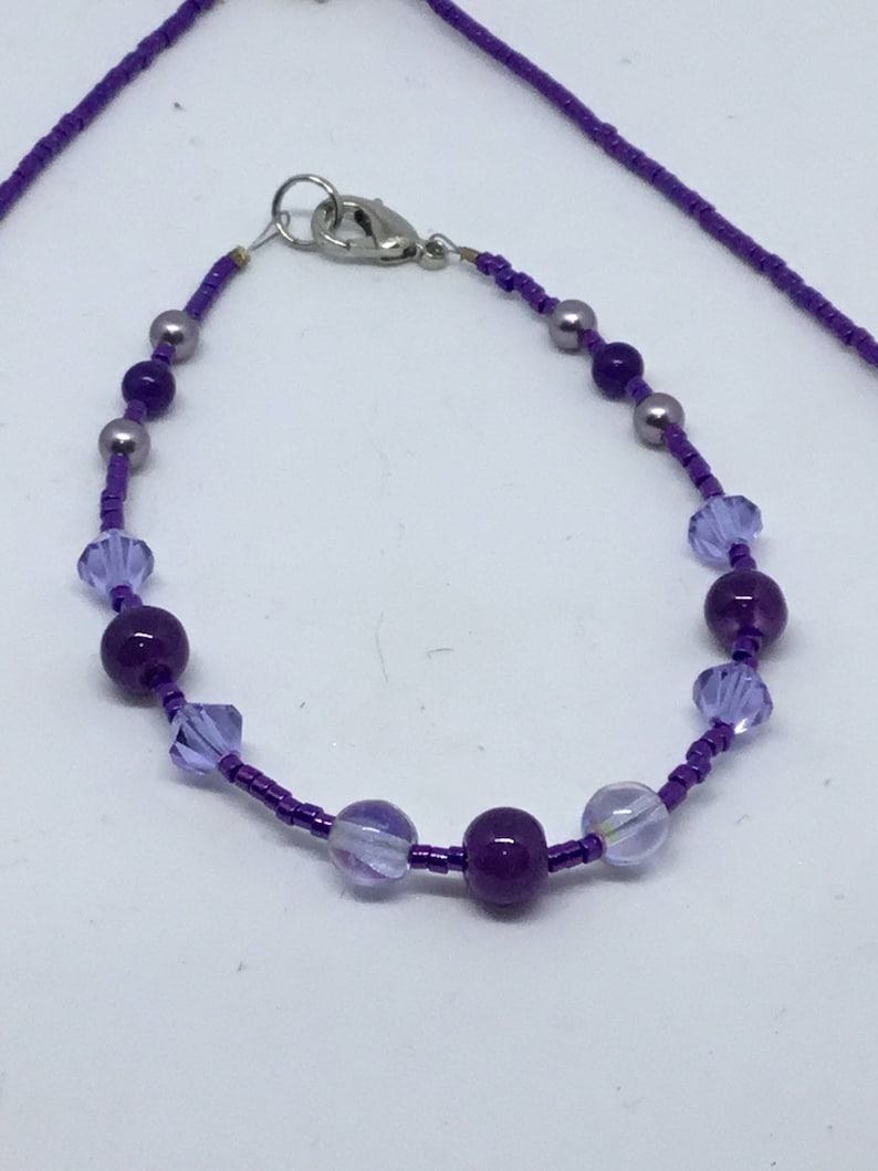 Polished Metallic Purple Dream Necklace and Bracelet Set \u2013 Czech Glass and Metallic Beads for Maximum Shine and Color
