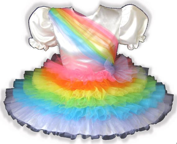 Rainy FIT Girl Sissy Ruffles Dress Satin Adult Rainbow LEANNE CUSTOM Little PrqAP