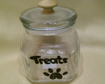 Treat Jars  are hand painted glass apothecary jars