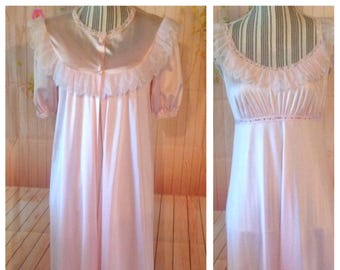 Vintage Pink Vanity Fair Nightgown Set