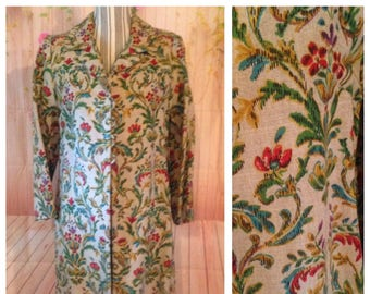 Vintage Ladies Hand Painted Coat