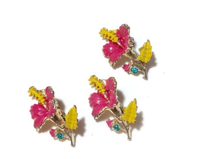 Vintage Set of 3 Flower ScatterDress Pins
