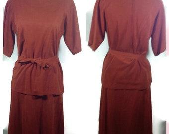 cb8c9069236 Vintage Melissa Lane Rust Colored Suit