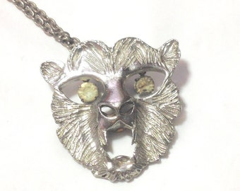 Vintage Animal Face Necklace