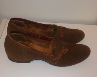 Brown Vintage 60's Brevitt Bouncer Ladies Shoes