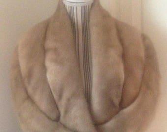 Vintage Pale Fur Wrap