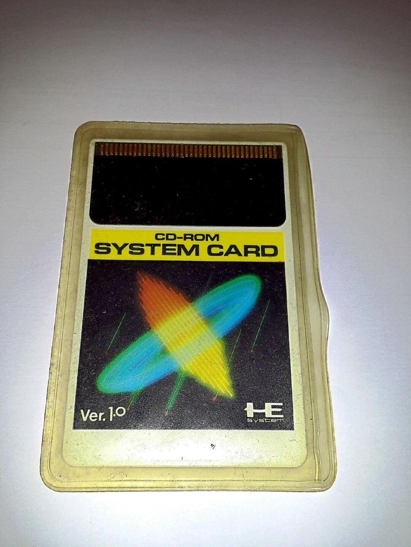 NEC PC Engine CD-Rom System Card Ver  1 0 Hu-Card TurboGrafx-16 *Used*  *Japan*
