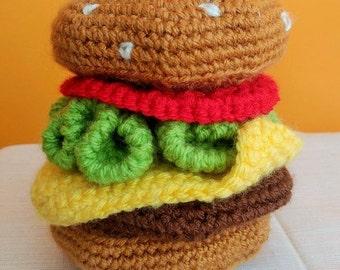 Crochet Cheeseburger