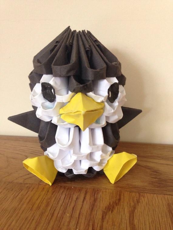 3d Origami Penguin Etsy