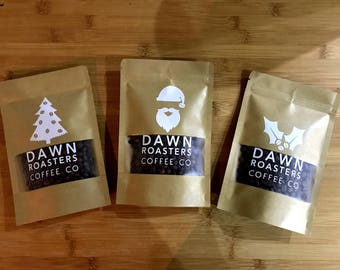 Christmas Coffee Taster Pack -Great gift, neatly boxed! Perfect for any coffee lover. Whole beans, espresso or cafetiere