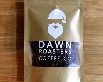 Santa's Coffee Beans - Freshly Roasted Coffee Shop Style - Christmas Stocking Filler! Choose whole bean, espresso or cafetiere ground